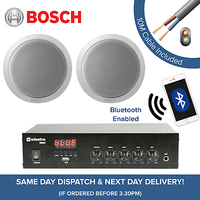 Bosch Bluetooth Music System for Cafe, Restaurant, Shop - Amp + Ceiling Speakers