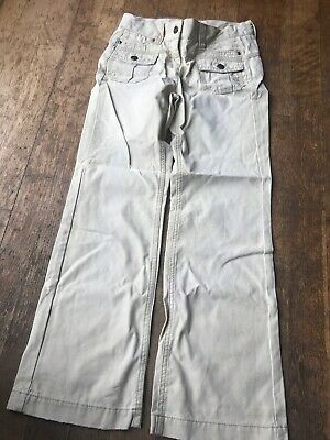Bnwot Girls Faded & Worn Effect Adjustable Waist Trousers Age 9 Marks & Spencer