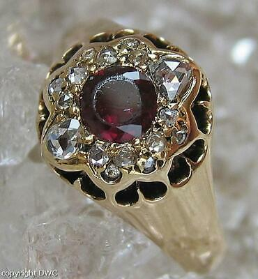 Rubinring Brillant Ring mit Rubin Rubine Diamanten 585 Gold Gr. 60