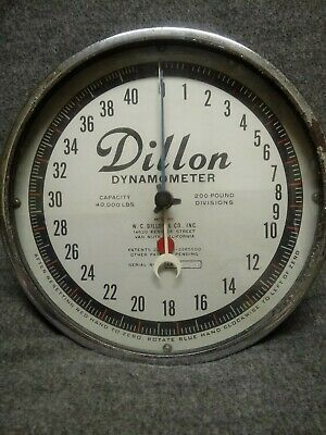 Dillon dynamometer 40,000lbs 200 pounds divisions