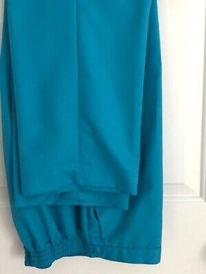 ALFRED DUNNER Aqua/Turquoise Blue Polyester Pull On Pants  Size 10