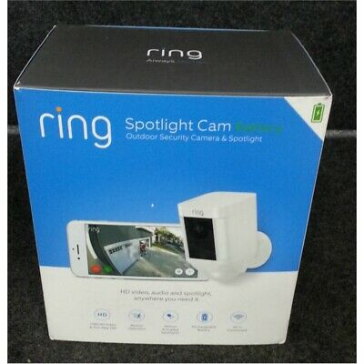 Ring 8SB1S7-WEN0 Spotlight Cam Battery Outdoor Security Camera & Spotlight *