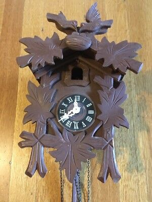 Vintage German Black Forest Cuckoo Clock for Parts or Repair