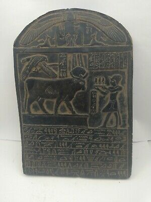 RARE ANTIQUE ANCIENT EGYPTIAN Stela God Hathot Horus Anbid Scarab Ame 1429 Bc