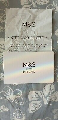 Marks And Spencer Gift Card...value Of £100