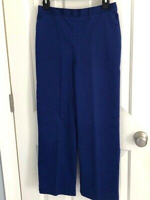 ALFRED DUNNER Royal Blue Cotton/Polyester Pull On Pants  Petite 10P