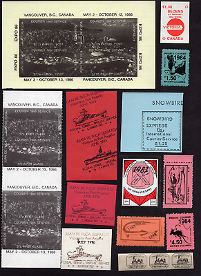 Canada Collection of Miscellaneous Private Courier Services MNH