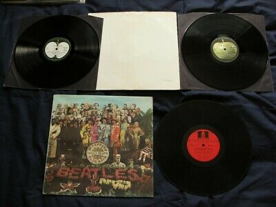 Beatles White Album Numbered Top Opener & Sgt Pepper Mono Odeon French Originals