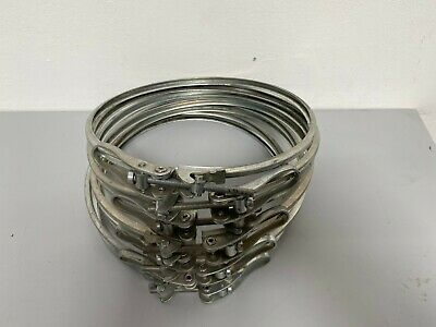 """Lot of 8 - Stainless Steel 8"""" Quick Release V-Band Clamps"""