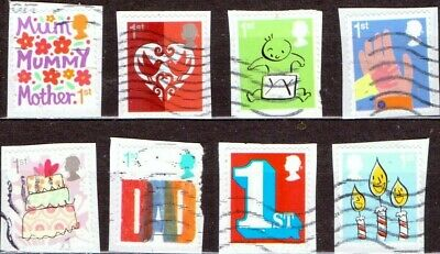 GB 2015 Smilers 5th Series SG3670 - 3677  - Used as shown on paper - 010