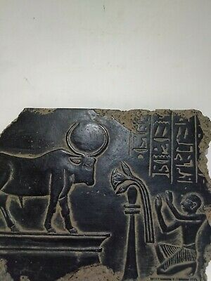 RARE ANTIQUE ANCIENT EGYPTIAN Statue Stela Goddess Hathor 1845-1755 Bc