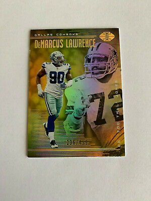 DeMarcus Lawrence Ed Too Tall Jones 2018 Illusions Gold /499 Dallas Cowboys