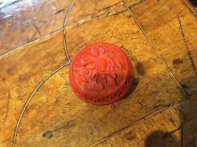 Antique Chinese Cinnabar Trinket Pot
