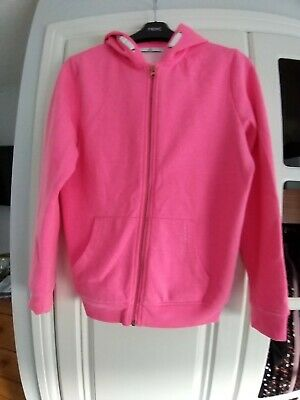 Marks And Spencer Girls Pink Zip Hoody Age 12-13