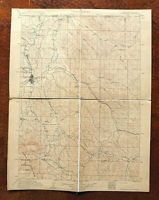 1911 Sheridan Wyoming Montana Antique USGS Topo Map Story 30-minute Topographic