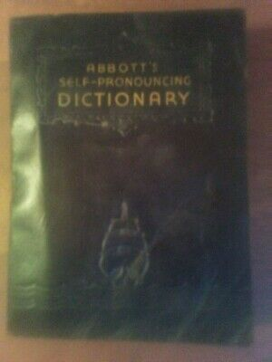Antique Abbott's Ready Reference Dictionary 1938 Faux Leather Bound