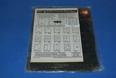 G&K Centurion Jumbo Stock Sheets 8 rows NOS BlueLakeStamps J8C