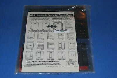 G&K Centurion Jumbo Stock Sheets 3 rows NOS BlueLakeStamps J3C