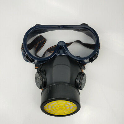 HOT Emergency Respirator Masker Chemical Gas Mask with Goggles