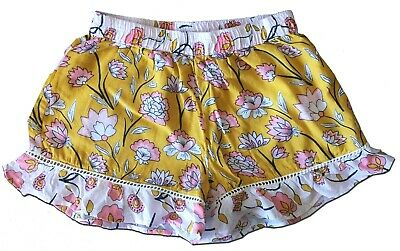 Pretty SEED HERITAGE Size 6 Girl's Mustard Yellow Frill Shorts