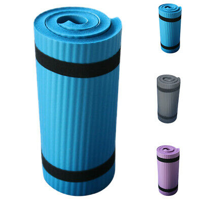 Non Slip Extra Thick Yoga Mat 15mm Exercise Pilates Gym Picnic Camping Straps