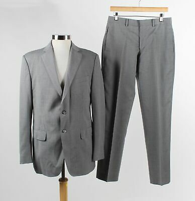 Banana Republic Gray Wool Blend Two Button Single Breasted Blazer Suit Size 40R