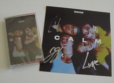 5Sos 5 Seconds Of Summer Calm Cassette Tape + Signed Card