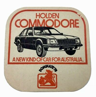 Holden Commodore a new kind of car for Australia Single Sided Coaster c1970s