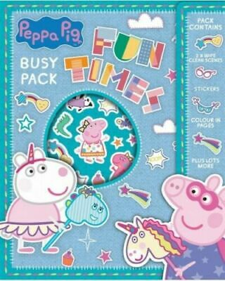 Peppa Pig Fun Times Busy Pack - Craft Gift Girls Boys