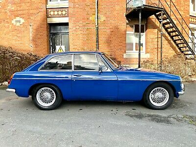 MGB GT Mark 1 1967 MK1 Classic Coupe, Wire Wheels, Mineral Blue