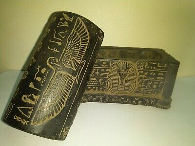 RARE ANTIQUE ANCIENT EGYPTIAN Jewellery Box Tutankhamun God Isis 1335 1325 Bc