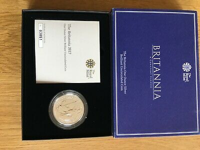 1 oz Silver Britannia coin 2017 Uncirculated Royal Mint Limited Edition Boxed