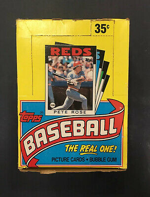 1986 Topps Baseball Wax Box 36 Unopened Packs Nolan RYAN Roger Clemens Mets Ws