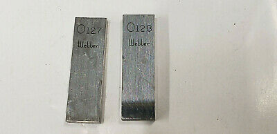 ".127"" & .128"" Webber Starrett  Rectangle Steel Gage Gauge Block."
