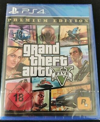 GTA 5 Grand Theft Auto V Premium Edition (PS4) (NEU OVP) Blitzversand)