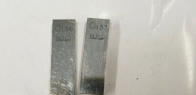 ".136"" & .137"" Webber Starrett  Rectangle Steel Gage Gauge Block."