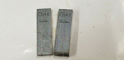 ".146"" & .147"" Webber Starrett  Rectangle Steel Gage Gauge Block."