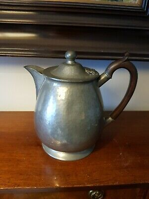 Vintage 'Homeland' Arts & Crafts Pewter Tea Coffee Pot
