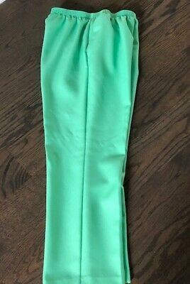 ALFRED DUNNER Green Polyester Pull On Pants  Size  10