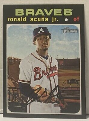 Ronald Acuna Jr 2020 Topps Heritage SP HIGH # Braves