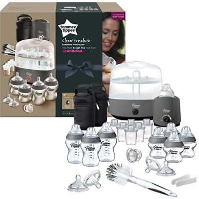 Tommee Tippee Black Complete Feeding Set - Grey