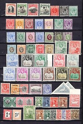 Vintage BRITISH COMMONWEALTH N-Z countries. MH stamps - good condition