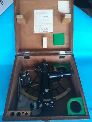 Sextant by International Nautical with Wood Case and Lock 1973 Model 73518 JAPAN