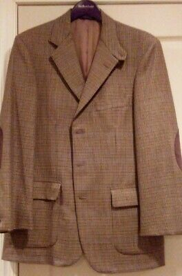 Brooks Brothers - Men's Hounds Tooth Blazer - Camel Color - 100% Wool - Size 41