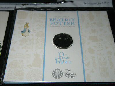 PETER RABBIT 50p The Royal Mint NEW & SEALED PRESENTATION PACK COIN - 2019 -BUNC