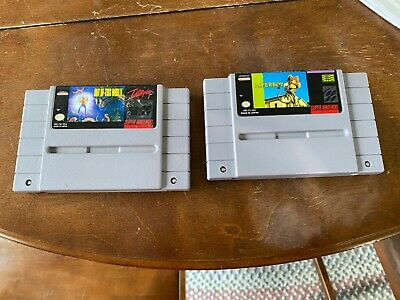 Out of this World and Paperboy 2 SNES Lot