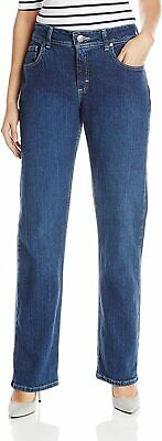 Riders by Lee Indigo Women's Relaxed Fit Straight Leg Jean Size 14P NWT