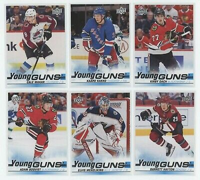 2019-20 Upper Deck Series 2 YOUNG GUNS Set (50) MAKAR/DACH/ KAKKO/ ELVIS ROOKIE+