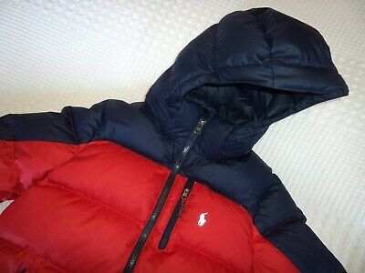 Ralph lauren Polo Boys Red And navy Duck Down Puffa Coat Size M - 10 - 12 Years