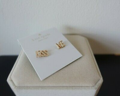 Kate Spade New York Kiss Me Say Yes Wedding Earrings In Gold. New